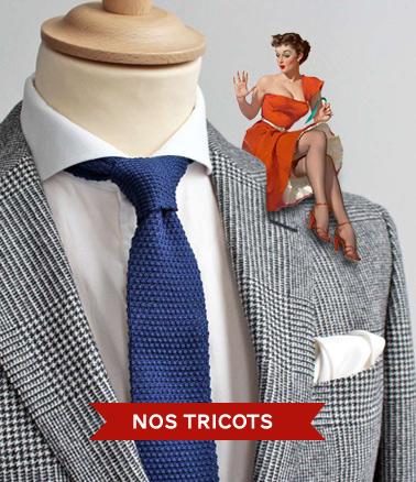 CRAVATES tricot POCHETTE SQUARE