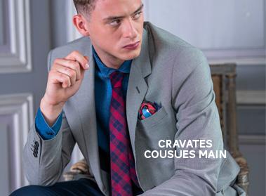 cravate laine pochette square