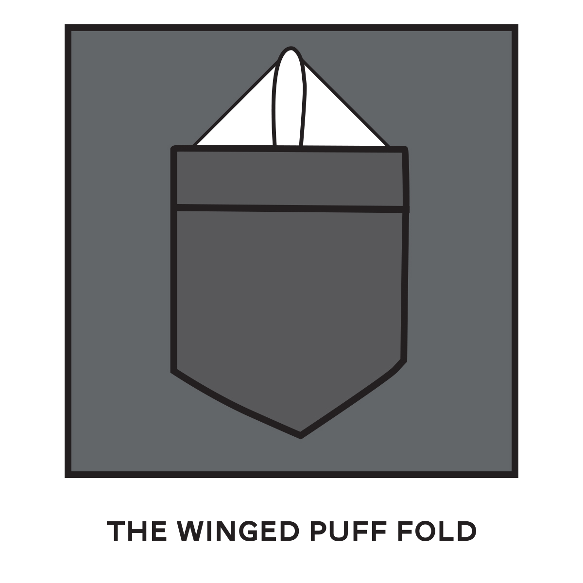 Pocket Square Winged Puff