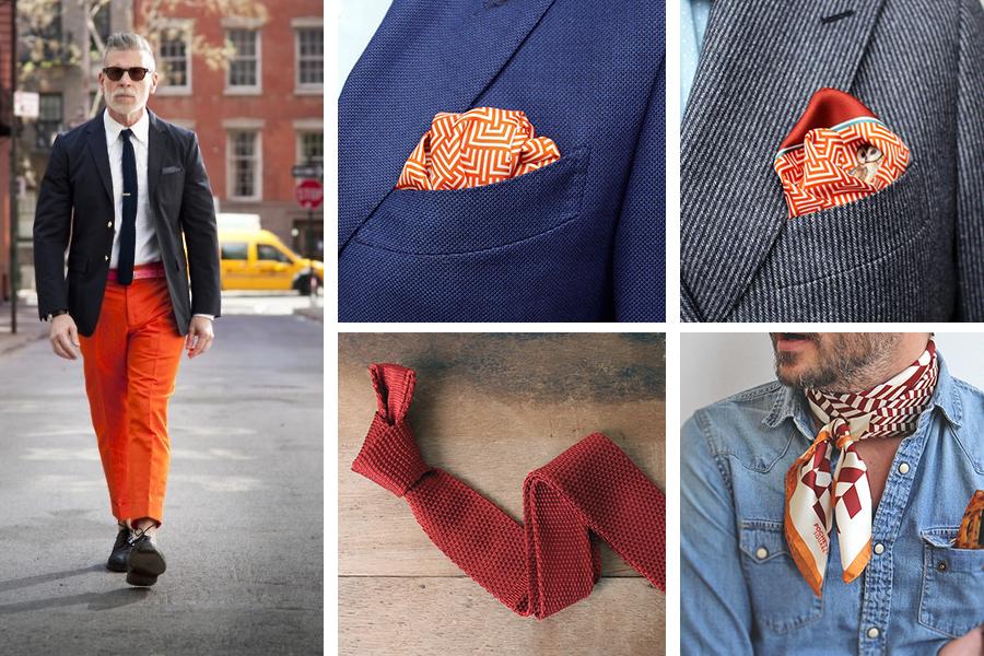 Accessoires homme orange