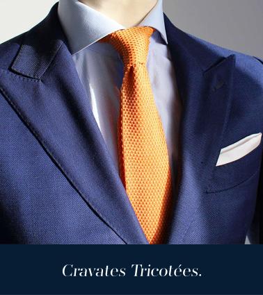 cravates tricotées made in italy par Pochette square