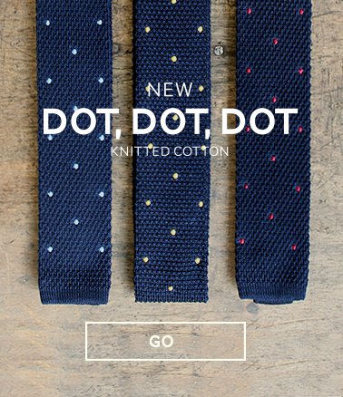 knitted ties pochette square