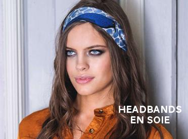headband soie pochette square