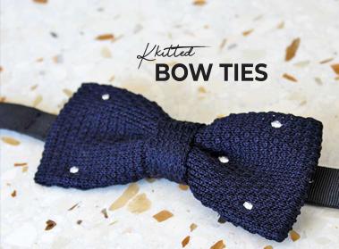 knit bow tie pochette square