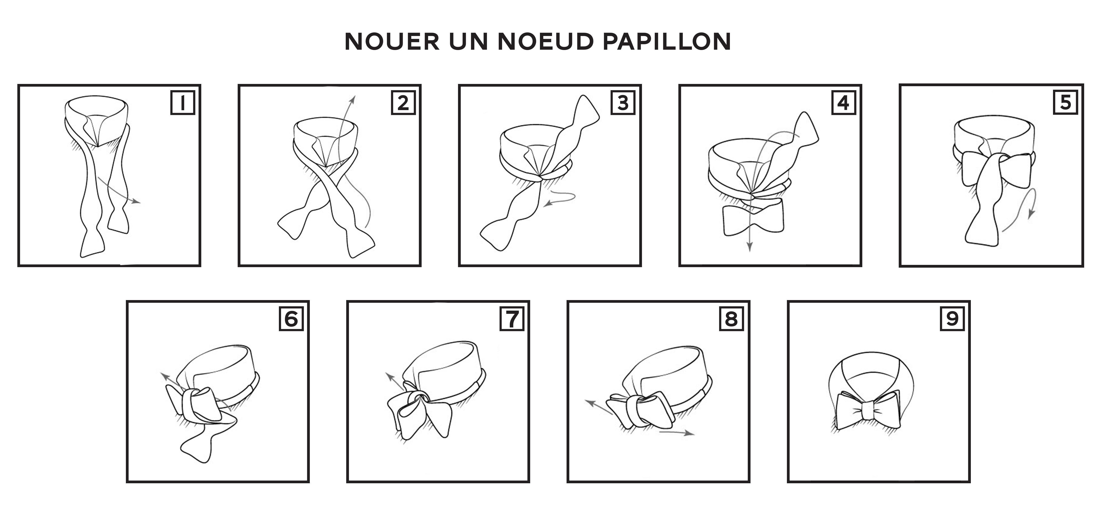 Comment nouer un noeud papillon pochette square - Nouer un noeud papillon ...