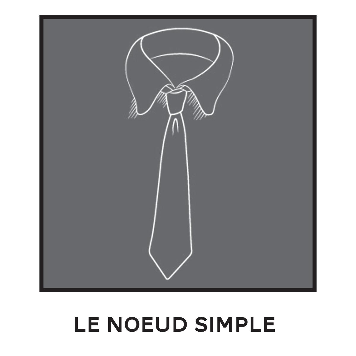 Cravate Noeud Simple
