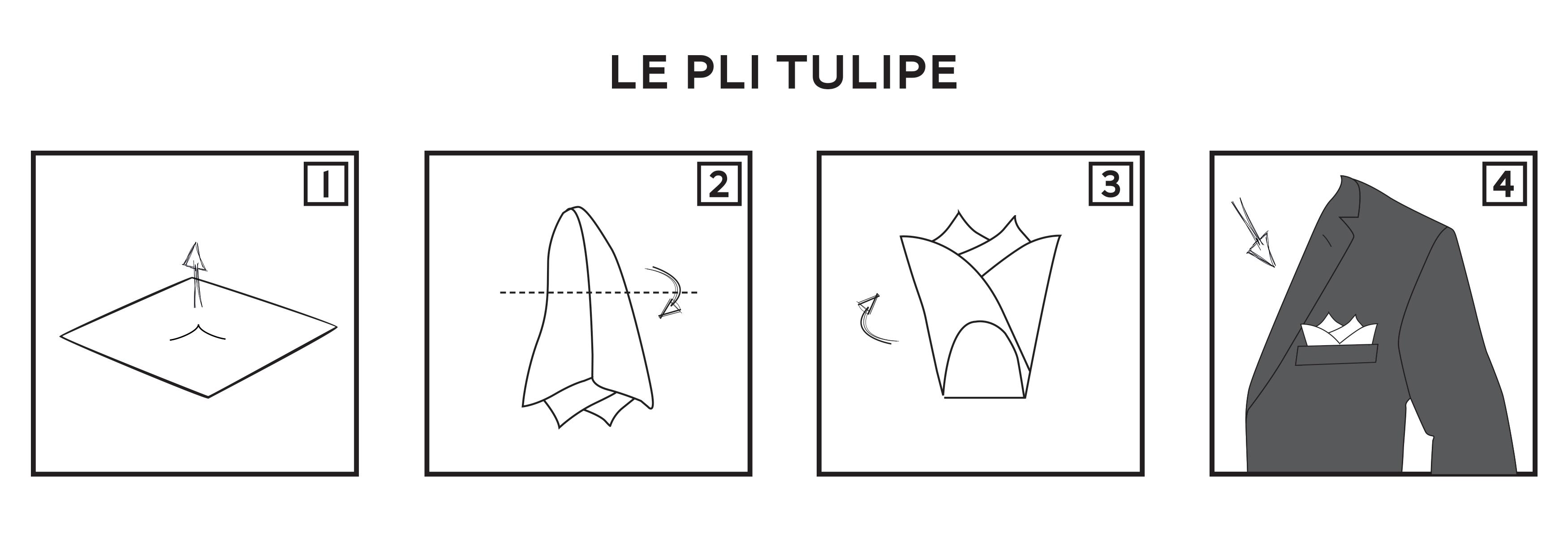 Pochette Costume Pli Tulipe