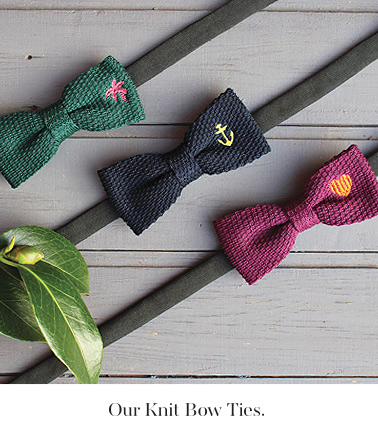 our knit bow ties