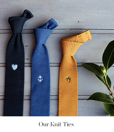 our knit ties
