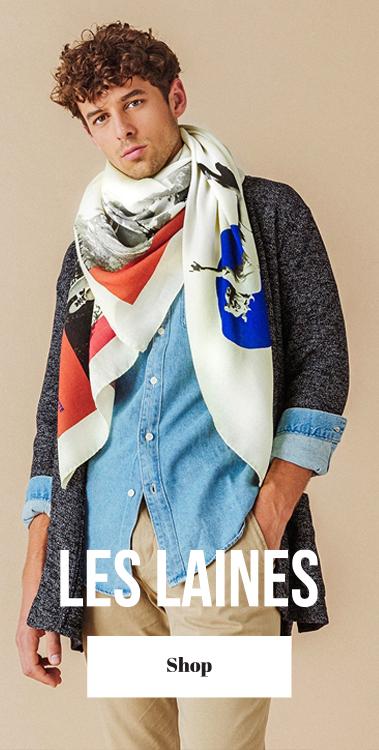 pochette square foulard laine