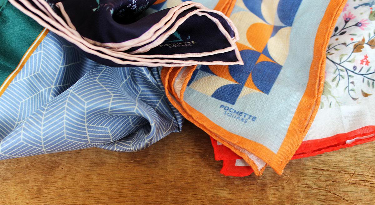 pochette costume lin coton soie