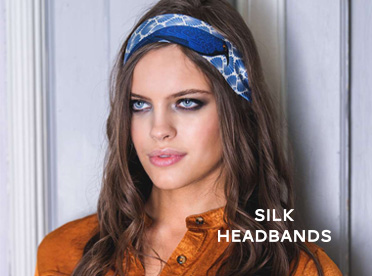 silk headbands pochette square