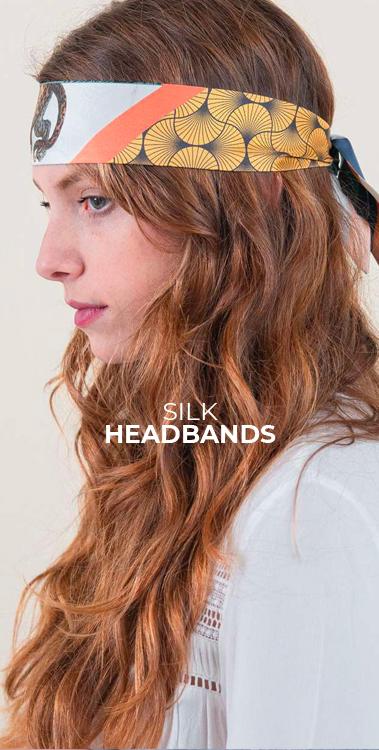 silk headbands pochette square