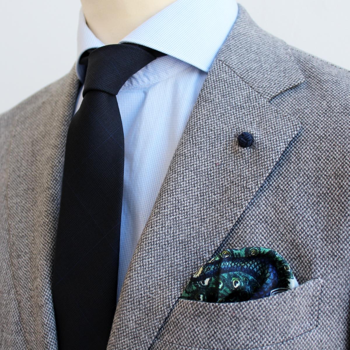 Pochette Soie Cravate Laine