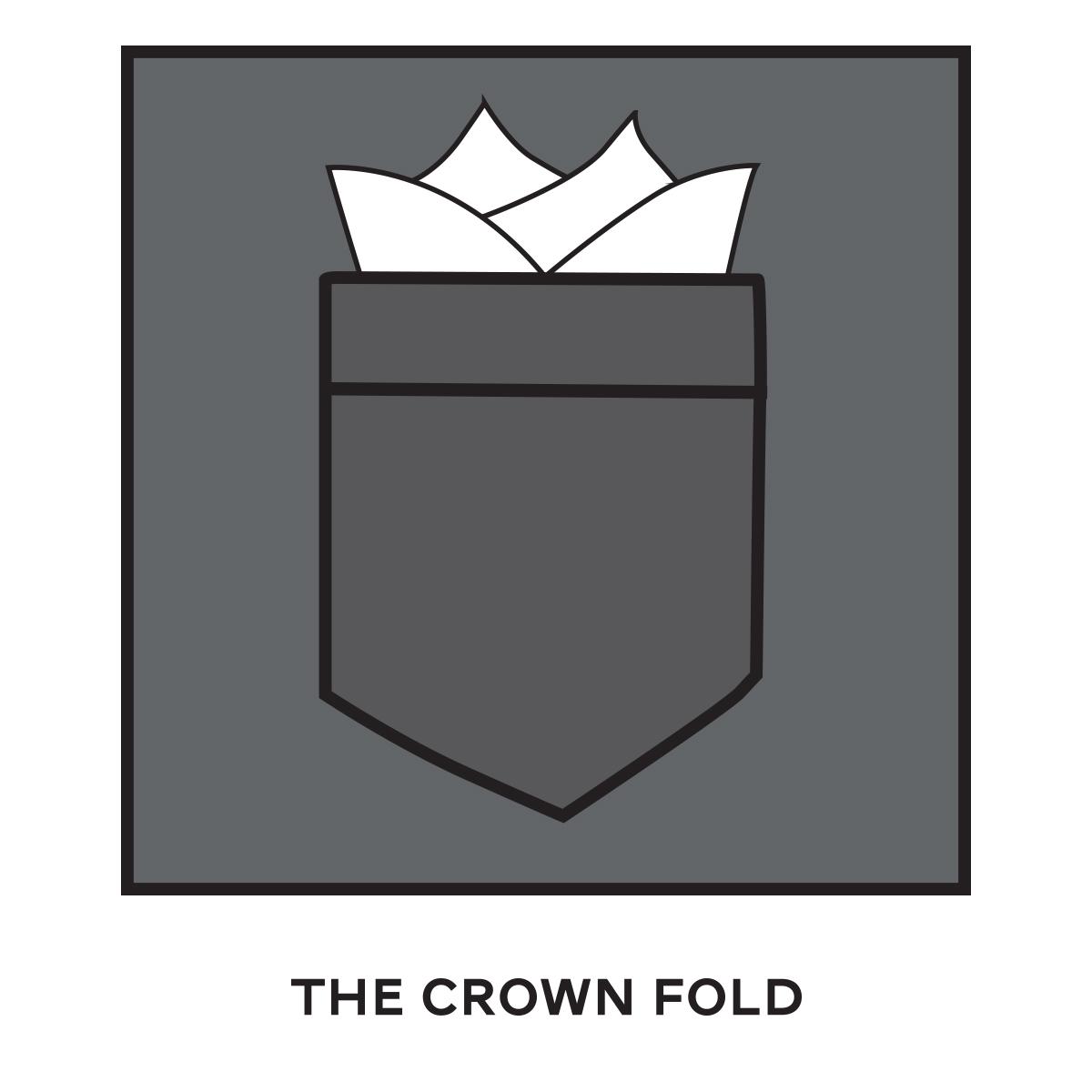 Pocket Square Crown Fold