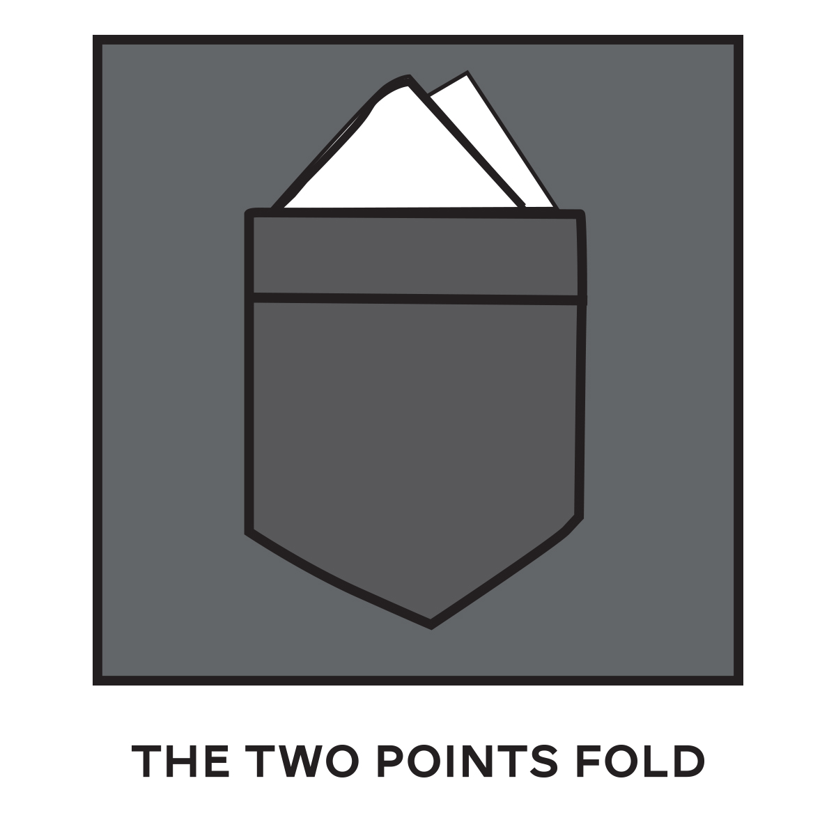 Two Points Fold Pocket Square
