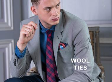 wool tie pochette square