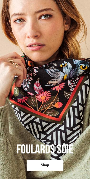 pochette square foulard soie